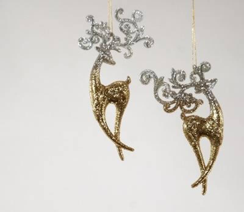 Reindeer Standing-  Ornament- set of 2