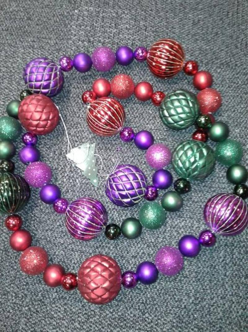 Purple/Red/Green Garland Large