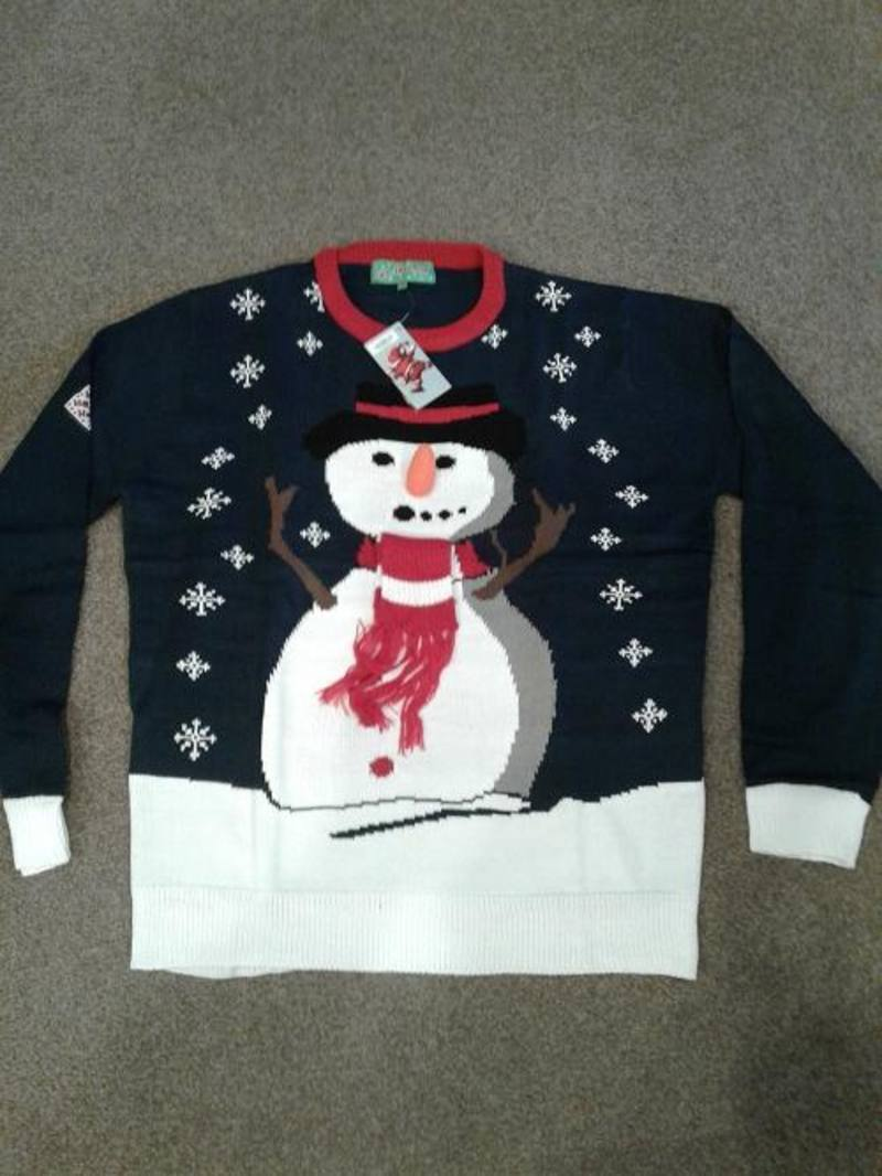 Snowman Carrot Nose  Navy  XL