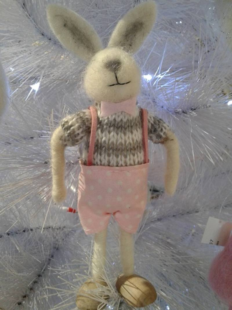 Easter Boy Wooly  Bunny