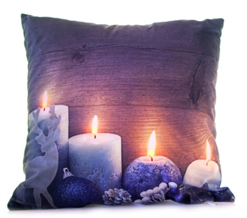 Cushion Cream Brown Candles