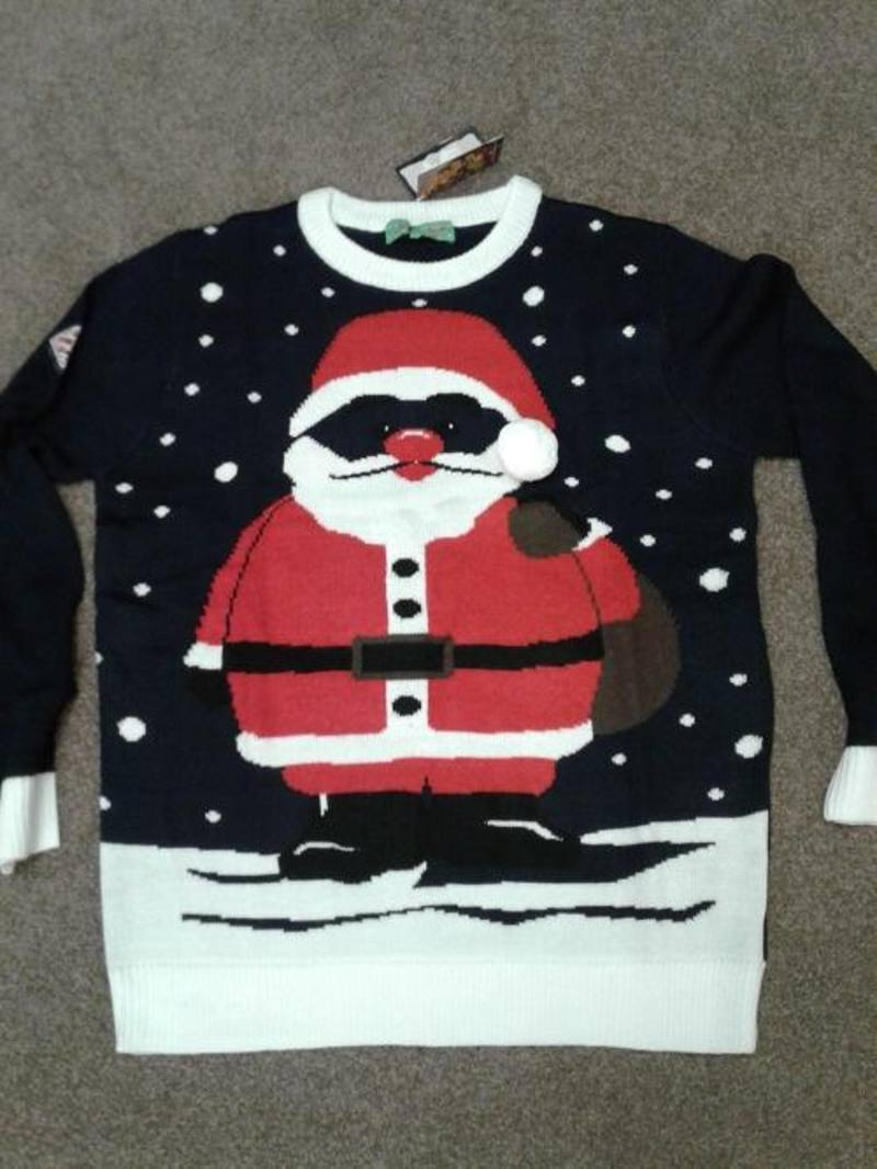 Jumper black with Santa XL