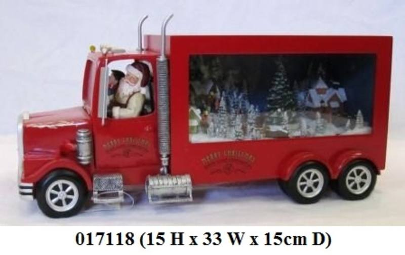 Santa Driving Red Truck