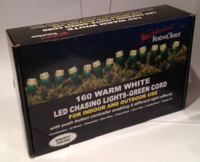 LED Chasing Lights, 160 LED Warm White Lights, 16m