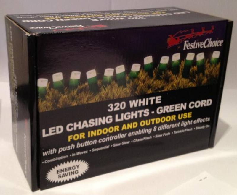 Chasing Lights, 320 LED Warm White