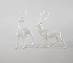 Winter Frosted deer - Pair