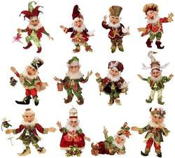 12 days of Christmas  -  set of 12 Elves