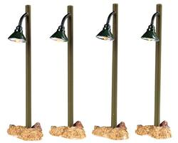 Rustic Street Lamp. Set Of 4