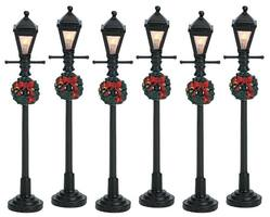 "4"" Gas Lantern Street Lamp, Set Of 6"