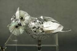 Silver Owls , clip on