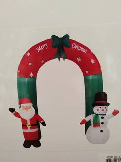 Inflatable Archway with Santa & Snowman