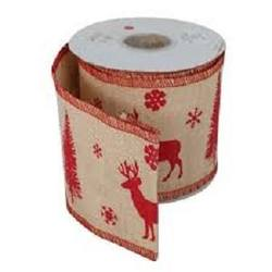 Deer - Red Jute Ribbon