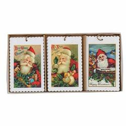 "Retro Santa ""stamp"" parcel tags"