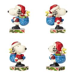 Santa Snoopy with Woodstock