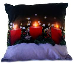Cushion - Flicker Red candles