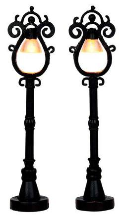 Parisian Street Lamp Set Of 2