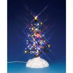 "6"" Lighted Pine Tree, Multi Colour."