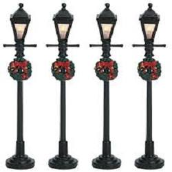 Gas Lantern Street Lamp. Set Of 4