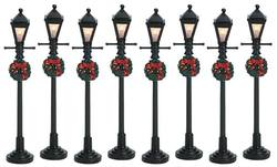 "4"" Gas Lantern Street Lamp - Set of 8"
