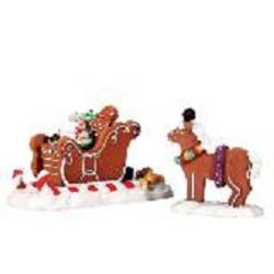 Santa's Sleighride. Set of 2