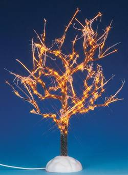 "9"" Lighted Ice Glazed Tree"