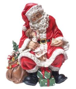 Traditional Santa with a Child on his Knee