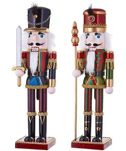 Blue/Red Nutcracker with Sword- A