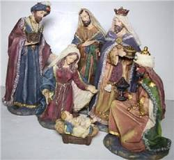 Nativity set, 6 piece