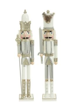 Nutcracker, white/silver, price per each