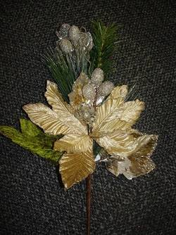 Poinsettia Greenery Pick
