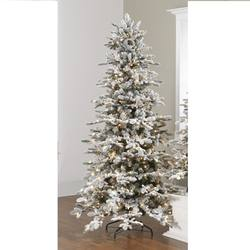 Flocked Pre lit tree 7.5ft