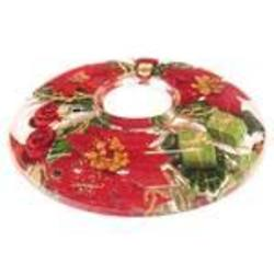 Glass tea light holder, Merry Xmas,