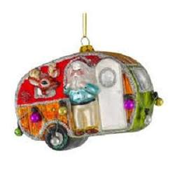 Caravan Hanging Glass Decoration