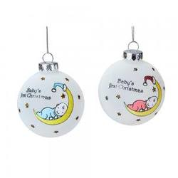 Babys First Christmas -  Blue or Pink, Price per Each