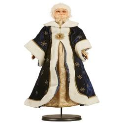 Mrs Claus- Blue and Gold - 76cm