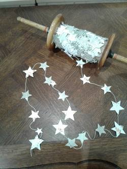 Star Garland on Wooden Spool