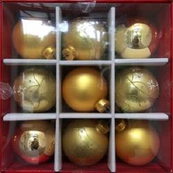 Glass Baubles Gold