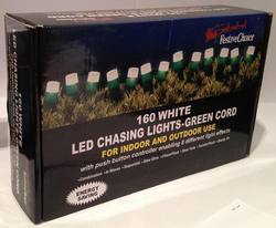 LED Chasing Lights, 160 LED White Lights 16m