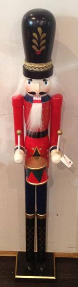Traditional Wooden Nutcracker Guard/Drum 90cm