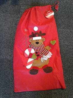 Santa Sack, Red Reindeer 3D