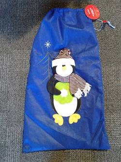 Santa Sack  Blue Penguin
