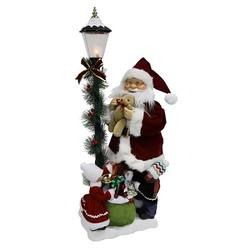 Santa Animated with Lamp Post