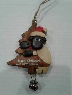 Sheep Wooden  holding Tree