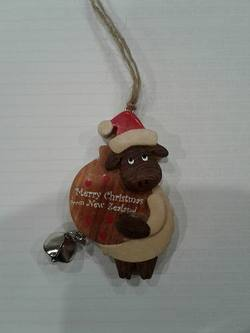 Sheep Wooden  holding Bauble