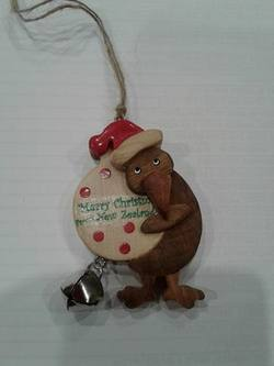 Kiwi Wooden holding  Bauble