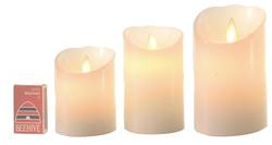 Ivory - Moving Wicks Battery Candle - Small