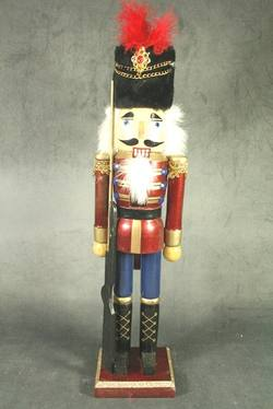 Nutcracker, Burgundy with Gun